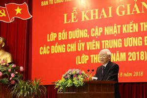 Phát biểu của Tổng Bí thư Nguyễn Phú Trọng tại lớp bồi dưỡng, cập nhật kiến thức đối với Ủy viên Trung ương Đảng