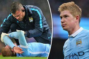 De Bruyne chấn thương nặng, Man City như 'ngồi trên đống lửa'