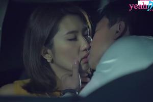 Hân hoa hậu sa vào lưới tình của người yêu cũ, hôn nhau say đắm trong xe mặc cho Kiệt đang chật vật chăm bố