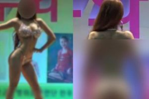 Người mẫu bikini nhảy nhót cổ vũ binh sĩ Hàn Quốc gây phẫn nộ
