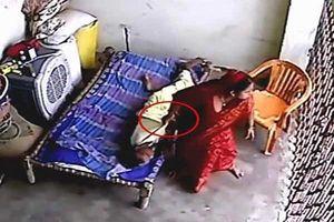 Sốc: Clip con dâu đánh đập mẹ chồng bị liệt dã man