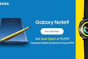 Ấn Độ: Mua Galaxy Note 9 được tặng đồng hồ Gear Sport