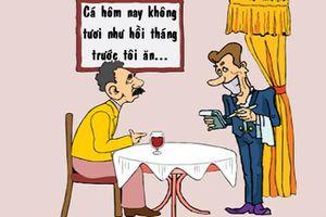Trưa cười: Phục vụ bức xúc vì bị thực khách vu oan