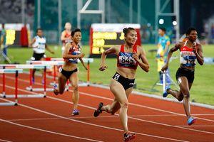 Quách Thị Lan giành HCB nội dung 400m vượt rào, phá kỷ lục cá nhân