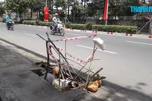 Biên Hòa đề nghị công an điều tra vụ nắp cống liên tục bị mất trộm