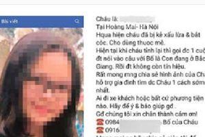 Sự thật bất ngờ vụ nữ sinh lớp 8 'bị đánh thuốc mê, bắt cóc' ở Hà Nội