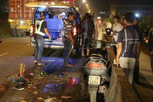 Gây tai nạn chết người, tài xế xe đầu kéo cố tình bỏ chạy bị người dân đuổi theo chặn đầu