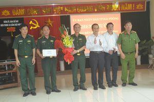 Trao thưởng cho 2 đơn vị BĐBP Hải Phòng về thành tích đấu tranh chống buôn lậu