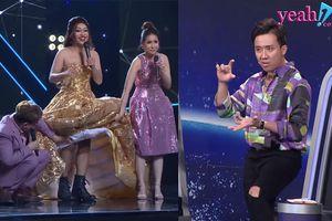 Bản sao Hà Hồ khiến Trấn Thành 'nổi đóa' khi diện đầm dạ hội mà mang giày boot