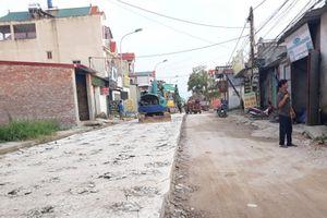 Mỹ Đức - Hà Nội: Dự án đường liên xã Thượng Lâm - Tuy Lai không đảm bảo chất lượng do... thời tiết