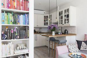 Căn hộ 43 m2 dành cho cặp vợ chồng trẻ thích đọc sách, nấu ăn