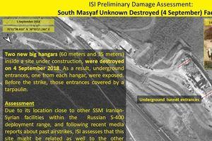 Hình ảnh vệ tinh chỉ rõ vị trí của SAA bị Israel tấn công