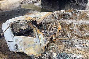 Hiện trường vụ xe bồn chở xăng cháy trên cao tốc Nội Bài - Lào Cai