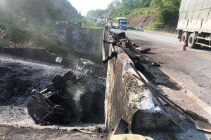 Khẩn trương gia cố cầu hỏng do xe bồn cháy trên cao tốc