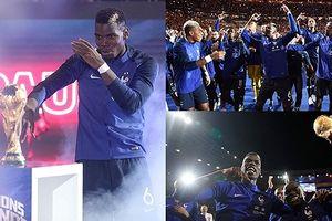 Paul Pogba 'chiếm sân khấu' khi ĐT Pháp ăn mừng chức vô địch World Cup