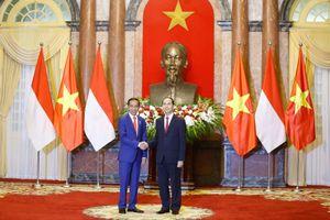 Lễ đón Tổng thống Indonesia tại Phủ Chủ tịch
