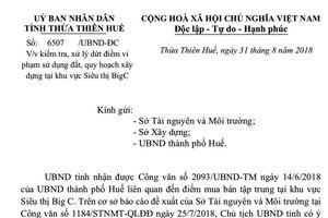 Chủ tịch UBND tỉnh Thừa Thiên Huế chỉ đạo dẹp khu chợ xây dựng trái phép