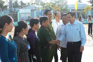 Đồng chí Phạm Minh Chính, Ủy viên Bộ Chính trị, Bí thư Trung ương Đảng, Trưởng Ban Tổ chức Trung ương làm việc tại tỉnh Hậu Giang