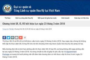 Vì sao Mỹ tạm dừng cấp thị thực SR, I5 và R5 tại Việt Nam?