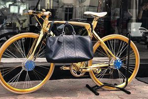 Cận cảnh xe đạp mạ vàng cả tỷ đồng tại Hà Nội