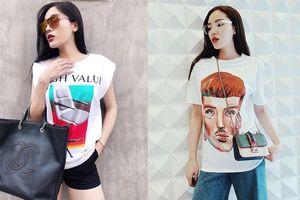 Tìm đâu xa mẫu áo thun đẹp, các cô gái hãy xem ngay BST từ bình dân tới sành điệu của Kỳ Duyên