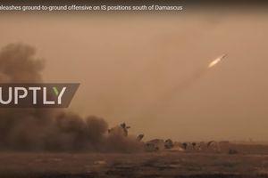 Tên lửa Syria dập tơi bời phiến quân IS tử thủ nam Damascus
