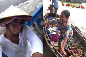 Siêu mẫu Naomi Campbell đến Việt Nam, đi chợ nổi miền Tây