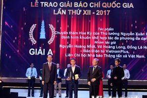 VietnamPlus lần thứ sáu liên tiếp giành Giải Báo chí quốc gia