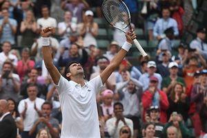 Djokovic chiến Kei Nishikori ở tứ kết Wimbledon