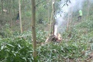 Hiện trường vụ rơi máy bay quân sự tại Nghệ An