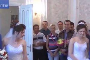 Đám cưới thú vị giữa hai cặp song sinh giống hệt nhau