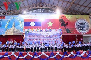 Trường song ngữ Lào-Việt Nguyễn Du khai giảng năm học mới