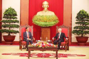 Tổng Bí thư Nguyễn Phú Trọng tiếp Tổng thống nước Cộng hòa Indonesia Joko Widodo