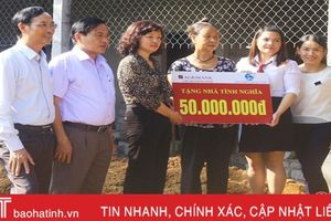 Agribank Hà Tĩnh hỗ trợ 50 triệu xây nhà tình nghĩa ở Gia Hanh