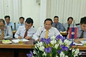 Trao đổi kinh nghiệm quản lý đô thị giữa Thủ đô Viêng Chăn (Lào) và TP. Vinh