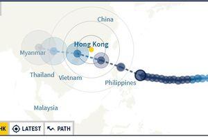Bão Mangkhut cấp 17 dự báo sẽ đổ bộ vào Vịnh Bắc Bộ trong 2 ngày tới