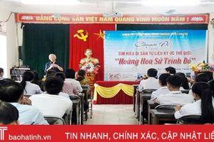 Học sinh Can Lộc tìm hiểu di sản Hoàng Hoa sứ trình đồ