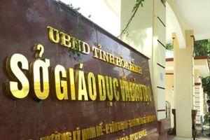 Hòa Bình: Bt gi Trng phòng Kho thí liên quan v nâng im thi THPT Quc gia