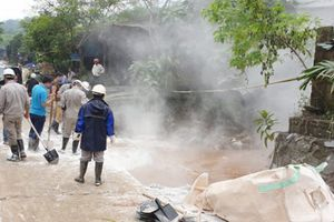 Lào Cai: Kiểm tra rà soát nguồn nước trong sự cố vỡ đập ở công ty DAP số