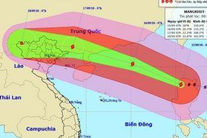 Siêu bão Mangkhut đã vào Biển Đông, cảnh báo mưa đặc biệt lớn ở Bắc Bộ