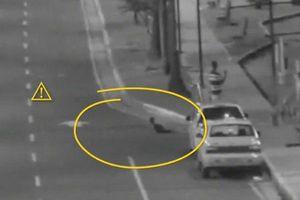 Clip: Con bò ra đường quốc lộ, cha vẫn thản nhiên dùng điện thoại chụp hình
