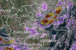 Hoàn lưu bão số 6 gây mưa ở Đông Bắc, Việt Bắc, Tây Bắc