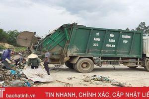 Vận chuyển 340 tấn rác tại bãi rác Phượng Thành đi xử lý