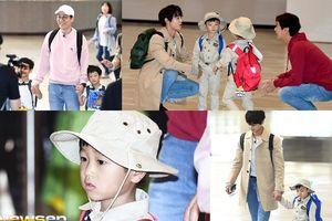Choi Minho (SHINee) 'đóng vai' bố của Sian cùng Ko Seung Jae và bộ đôi Seo Eon - Seo Jun xuất hiện tại sân bay
