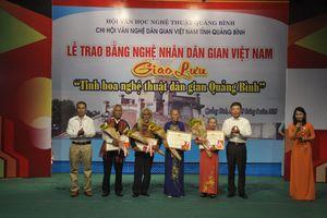 Quảng Bình: Thêm 4 Nghệ nhân dân gian Việt Nam