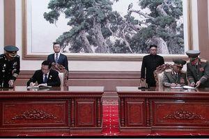 Quân đội Triều Tiên và Hàn Quốc ký kết hiệp ước quân sự
