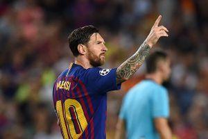 Messi lập hat-trick, Barca thắng tưng bừng trước PSV