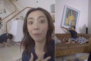 Thu Trang sốc vội tắt livestream vì hành động kì dị của con trai, khán giả rùng mình sợ hãi