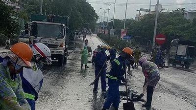 Truy tìm 'hung thủ' rải đá dăm khắp đường phố ở TP.Đà Nẵng