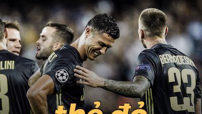 Khoảnh khắc Ronaldo không tin bị truất quyền thi đấu